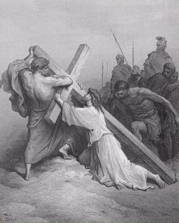Yesus Ditolong Simon Dari Kirene